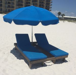 Lounge chair rentals in Orange Beach